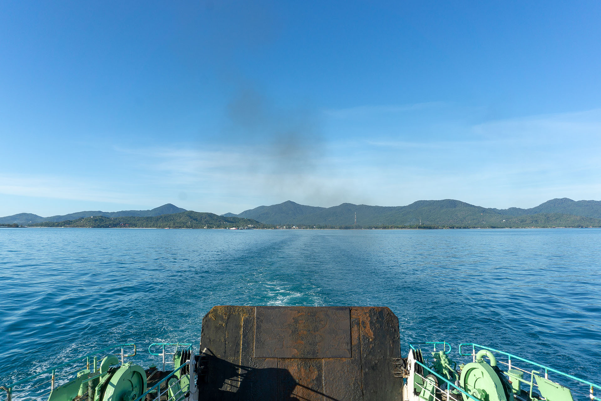View on Pha Ngan from a ferry