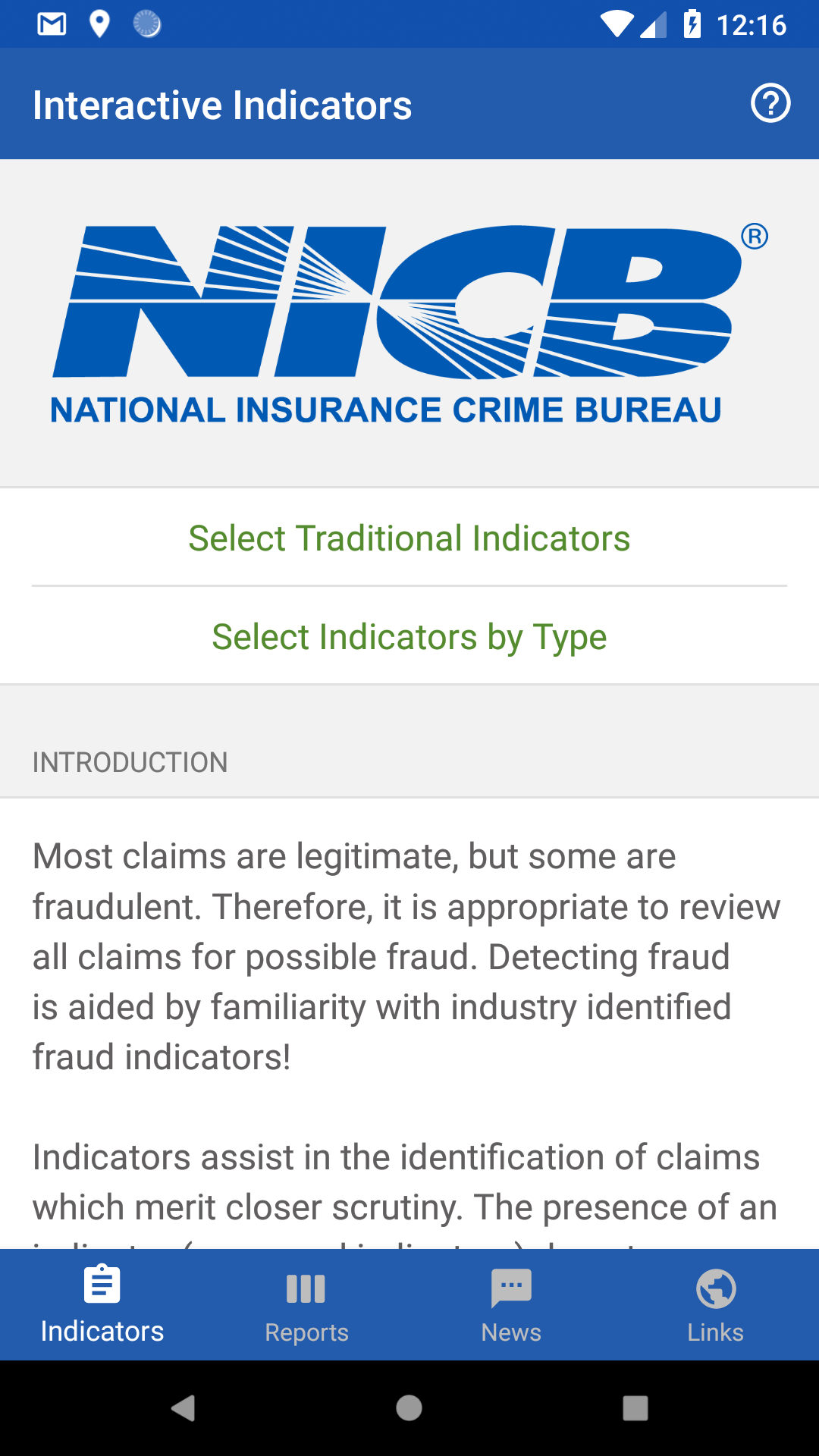 Insurance Fraud Indicators